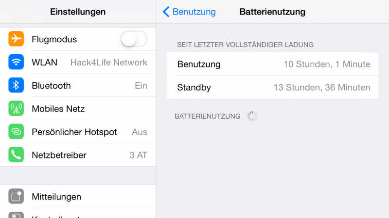 Akkulaufzeit der Apple Watch: Tag 2 - iPhone Verbrauch, Fabian Geissler, Hack4Life
