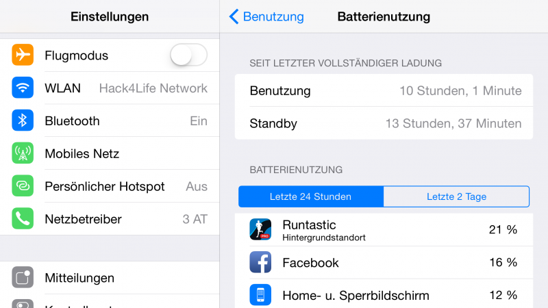 Batterienutzung - Akkufresser Runtastic, Fabian Geissler, Hack4Life